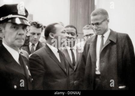 Malcolm X und Martin Luther King - Stockfoto