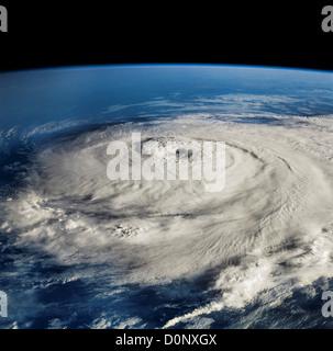Hurrikan-Elena vom Space Shuttle Discovery aus gesehen - Stockfoto