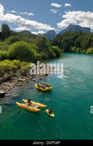 Rafting Fluss Futaleufú in Chile. - Stockfoto