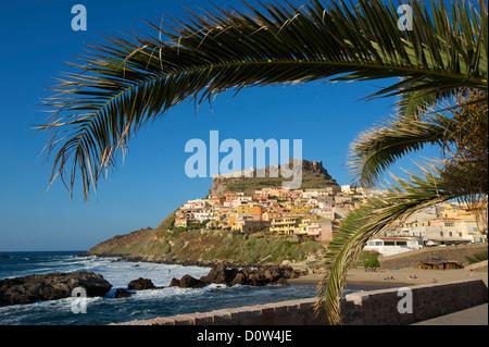 Italien, Sardinien, Sardinien, Europa, europäische, Insel, Insel, Inseln, Inseln, Mittelmeer, Tag, Castelsardo, - Stockfoto