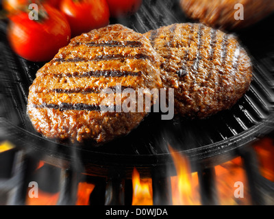 Burger mit Rindfleisch gekocht wird. Food-Fotos, Bilder & Bilder. - Stockfoto