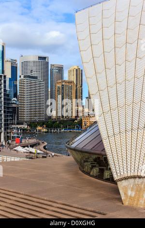 Australien, Bennelong Point, CBD, NSW, New-South.Wales, Opera House, Sydney, Sydney Harbour, UNESCO, Welterbe, Website, - Stockfoto