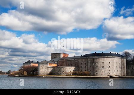 Schwedisch, Stockholm, Vaxholm, Burg, Archipel - Stockfoto