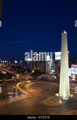 Avenida 9 de Julio in Buenos Aires - Stockfoto