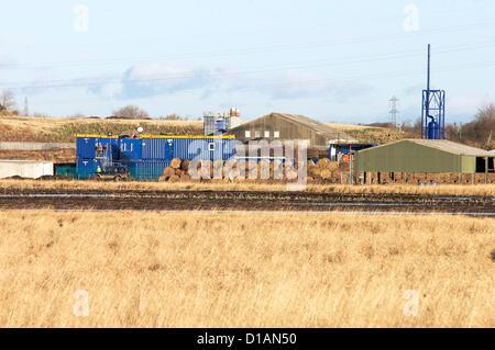 Donnerstag, 13. Dezember 2012. Die britische Regierung hat das Go gegeben voraus zu Fracking in Lancashire, UK fortgesetzt, - Stockfoto