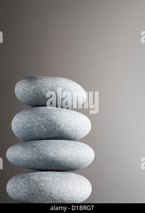 Haufen von Kieselsteinen. - Stockfoto
