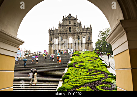 Ruinen der St. Pauls-Macau. - Stockfoto