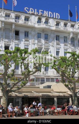 Hotel Splendid, Cannes, Alpes Maritimes, Provence, Cote d ' Azur, Côte d ' Azur, Frankreich - Stockfoto