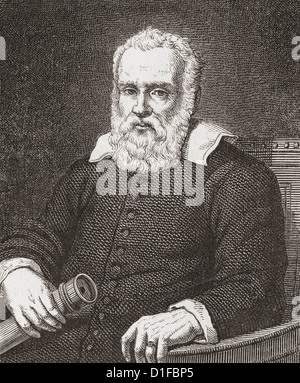 Galileo Galilei, 1564-1642. Italienischer Physiker, Mathematiker, Astronom und Philosoph. - Stockfoto