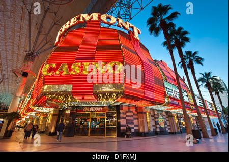 Fremont-Casino und der Fremont Street Experience, Las Vegas, Nevada, Vereinigte Staaten von Amerika, Nordamerika - Stockfoto