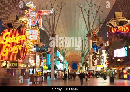 Fremont Street Erfahrung, Las Vegas, Nevada, Vereinigte Staaten von Amerika, Nordamerika - Stockfoto