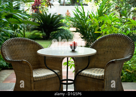 leere gartentisch und st hle stockfoto bild 31592833 alamy. Black Bedroom Furniture Sets. Home Design Ideas