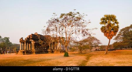 Panorama Hoto von Angkor Wat Bibliothek, Tempelanlage Angkor Wat, Siem Reap, Kambodscha, Indochina, Südostasien, - Stockfoto