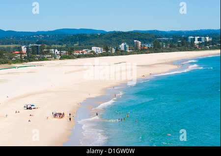 Surfschule in Coolangatta Beach, Gold Coast, Queensland, Australien, Pazifik - Stockfoto