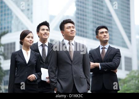 Zuversichtlich Business-Team freut sich in Hong Kong - Stockfoto