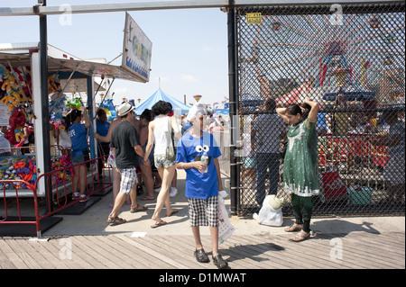 Fourth Of July auf Coney Island in Brooklyn, New York, 2012. - Stockfoto