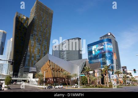 CityCenter Entwicklung einschließlich der Veer Aufsätze und weltoffene Las Vegas Nevada, USA - Stockfoto