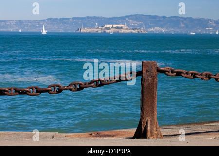 Gefängnis Alcatraz in der San Francisco bay - Stockfoto