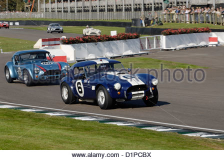 AC Cobra Sportwagen auf dem Goodwood Revival Meeting 2012 Stockfoto