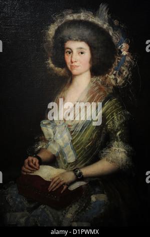 Francisco de Goya (1746-1828). Porträt von Manuela Camas y de Las Heras, Consort, Juan Agustin Cean Bermudez. C. - Stockfoto