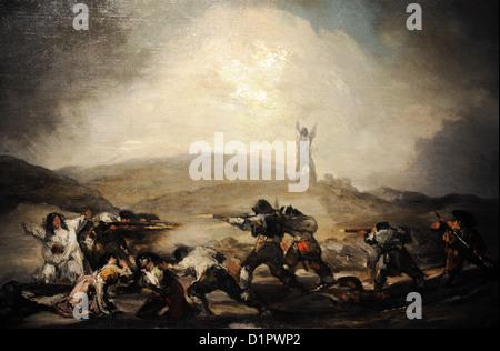 Francisco de Goya (1746-1828). Szene aus dem spanischen Krieg von Unabhängigkeit, ab 1808. Museum der bildenden - Stockfoto