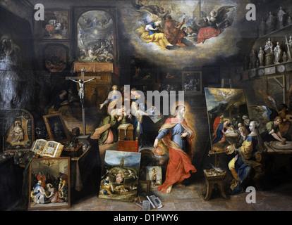 Frans Francken der jüngere (1581-1642). Flämischer Maler. Christus im Studio. Museum der bildenden Künste. Budapest. - Stockfoto