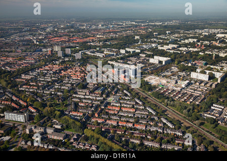 Die Niederlande, Utrecht, Wohnviertel im nördlichen Teil der Stadt. Luft. - Stockfoto