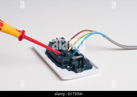 Erde, Leben und neutral elektrische Kabel Stockfoto, Bild: 33674805 ...