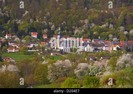 Ansicht der Benediktiner Abtei und Kirche St. Mauritius in Tholey, Saarland, Deutschland, Europa - Stockfoto