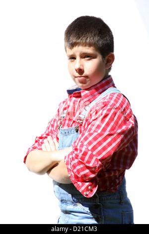 Ein junger Landwirt-junge - Stockfoto