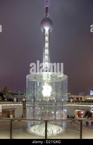 Beleuchtete Treppe Des Oriental Pearl Tower Shanghai China