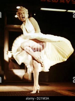 THE SEVEN YEAR ITCH 1955 20. Jahrhundert Fox Film mit Marilyn Monroe - Stockfoto