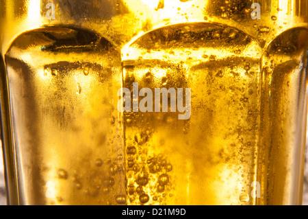 Bier im Glas Closeup - Stockfoto