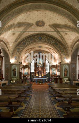 Piemont: Sacro Monte di Francesco - Int Cappella XX [?] - Stockfoto