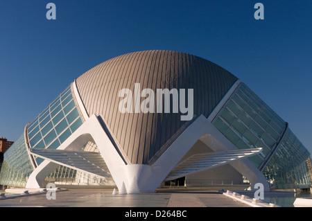 Spanien die Stadt der Künste und Wissenschaften in Valencia Gebäude Ciudad de Las Artes y de Las Ciencias - Stockfoto