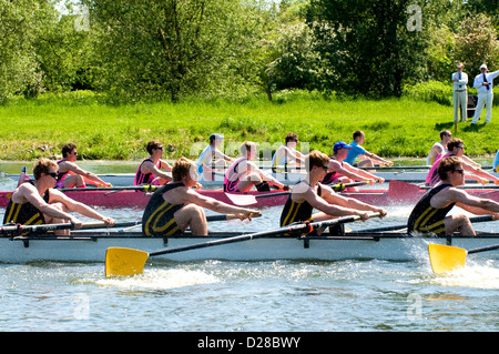 Start der Regatta Rudern. - Stockfoto