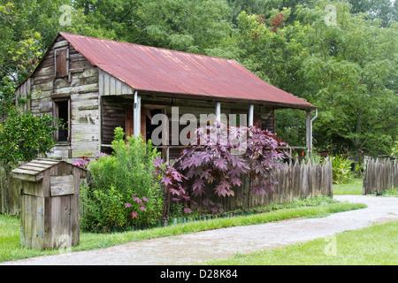 LA, Vacherie, Laura Plantation, slave-Viertel auf der Zuckerrohr-Plantage - Stockfoto