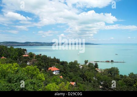Wunderschönes Panorama von der Halbinsel Tihany am Plattensee, Ungarn - Stockfoto