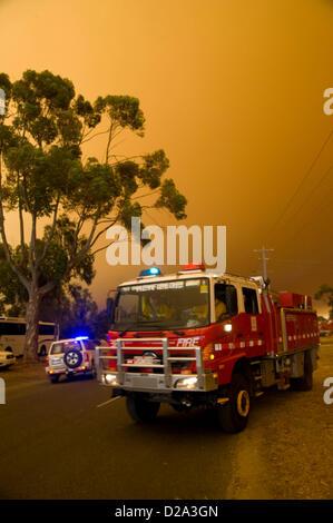 Heyfield, Victoria, Australien. 18. Januar 2013. Buschfeuer brennen außer Kontrolle geraten, durch Victoria fast - Stockfoto