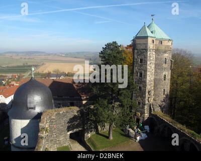 (Dpa Datei) Eine Archiv Bild datiert 27. Oktober 2010 zeigt einen Blick auf die Stolpen Burg Stolpen mit der sogenannten - Stockfoto