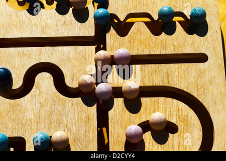Nahaufnahme Detail des Kinder Labyrinth-Spiel. - Stockfoto