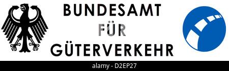 Logo des Bundesamtes für Güterverkehr BAG mit Sitz in Köln. - Stockfoto
