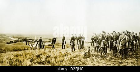 Französische General Comte Reille, 1815-1887, Kapitulation von Napoleon III, William, 1.9.1870, Schlachtfeld von - Stockfoto
