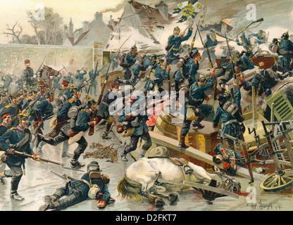 Schlacht Bei Le Bourget bin 30. Oktober 1870, Deutsch-Gendarmenmarkt Krieg von 1870 – 1871 Zwischen Dem Kaiserreich Frankreich DM Königreich Preußen Stockfoto