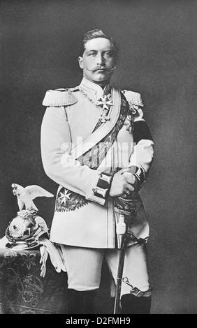 Wilhelm II. als Regimentskommandeur, einheitlich von der Garde du Corps Kürassiere, deutscher Kaiser und König von - Stockfoto