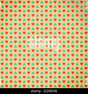 Valentinstag Herzen Muster - abstrakten Hintergrund auf alte Leinwand - Stockfoto