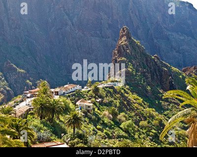 Masca im Teno Gebirge, Teneriffa, Kanarische Inseln, Spanien - Stockfoto