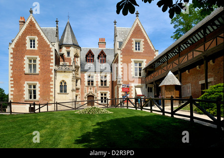 clos luce haus von leonardo da vinci in amboise loire tal frankreich stockfoto bild. Black Bedroom Furniture Sets. Home Design Ideas