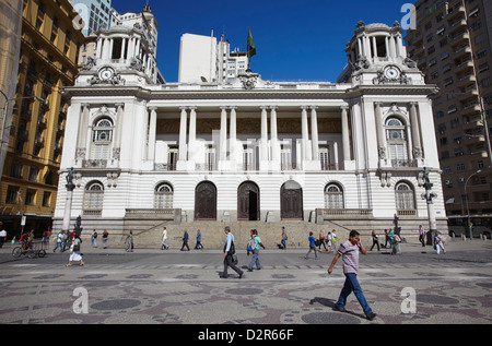 Camara Municipal (Rathaus) in Praca Floriano (Floriano Quadrat), Centro, Rio De Janeiro, Brasilien, Südamerika - Stockfoto