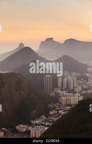 Ansicht von Urca und Botafogo Rio De Janeiro, Brasilien, Südamerika - Stockfoto